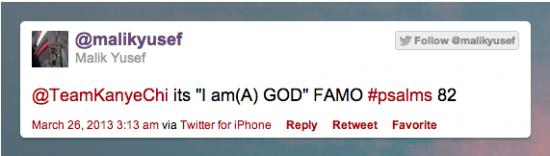 Malik Yuself Kanye West Tweet