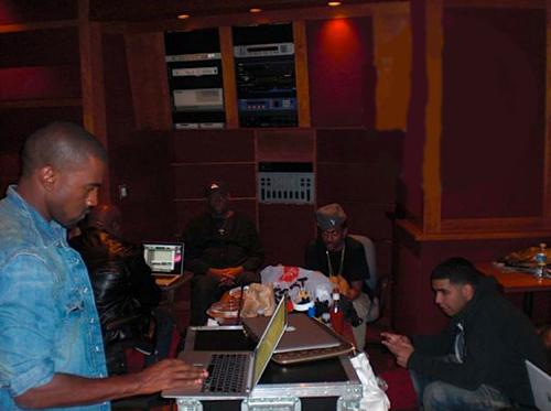 drake-kanye-studio