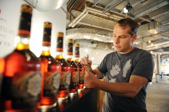 Sheaprd Fairey Signing bottles