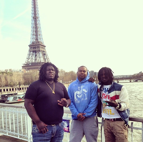 kanye-west-works-with-chief-keef-young-chop-in-paris-HHS1987-2013
